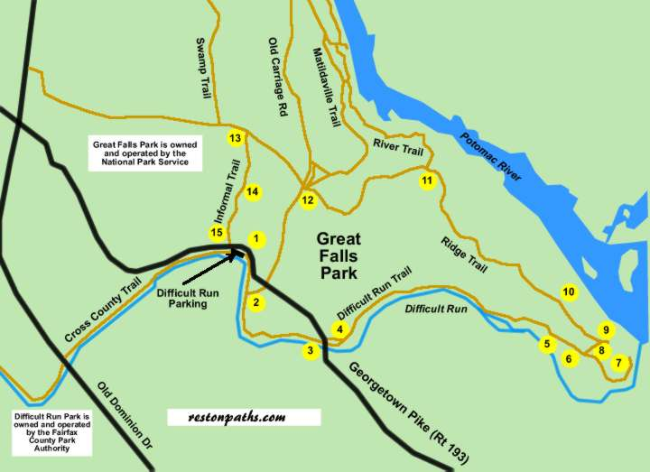 Great Falls Park Difficult Run Trail