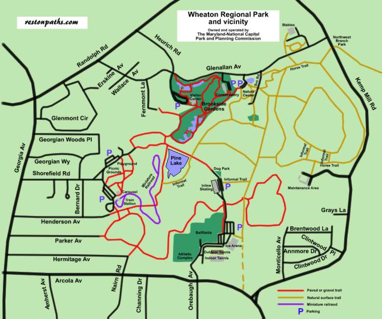 Brookside Nature Center Trail Map